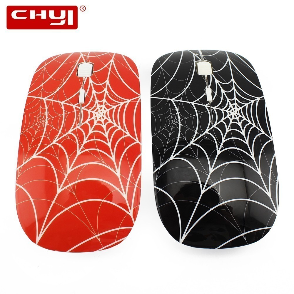 Wireless Computer Mause Optical Ergonomic USB Mouse 3D Ultra Thin Small Spider Man Web Mice For Boy Kid 1600 DPI Office PC Mice