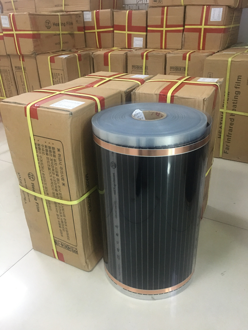 TF Electric Infrared Floor Heating Film AC220V 220W/m2 Heating Foil 200m2 With Wholesale Price