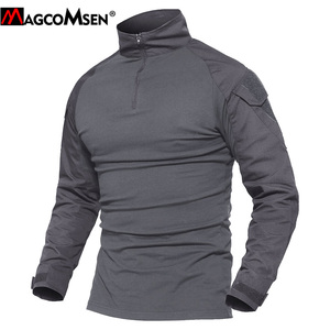 Image 3 - MAGCOMSEN Man Multicam T shirts Army Camouflage Combat Tactical T Shirts Military Long Sleeve Airsoft Paintball Hunting Tshirts