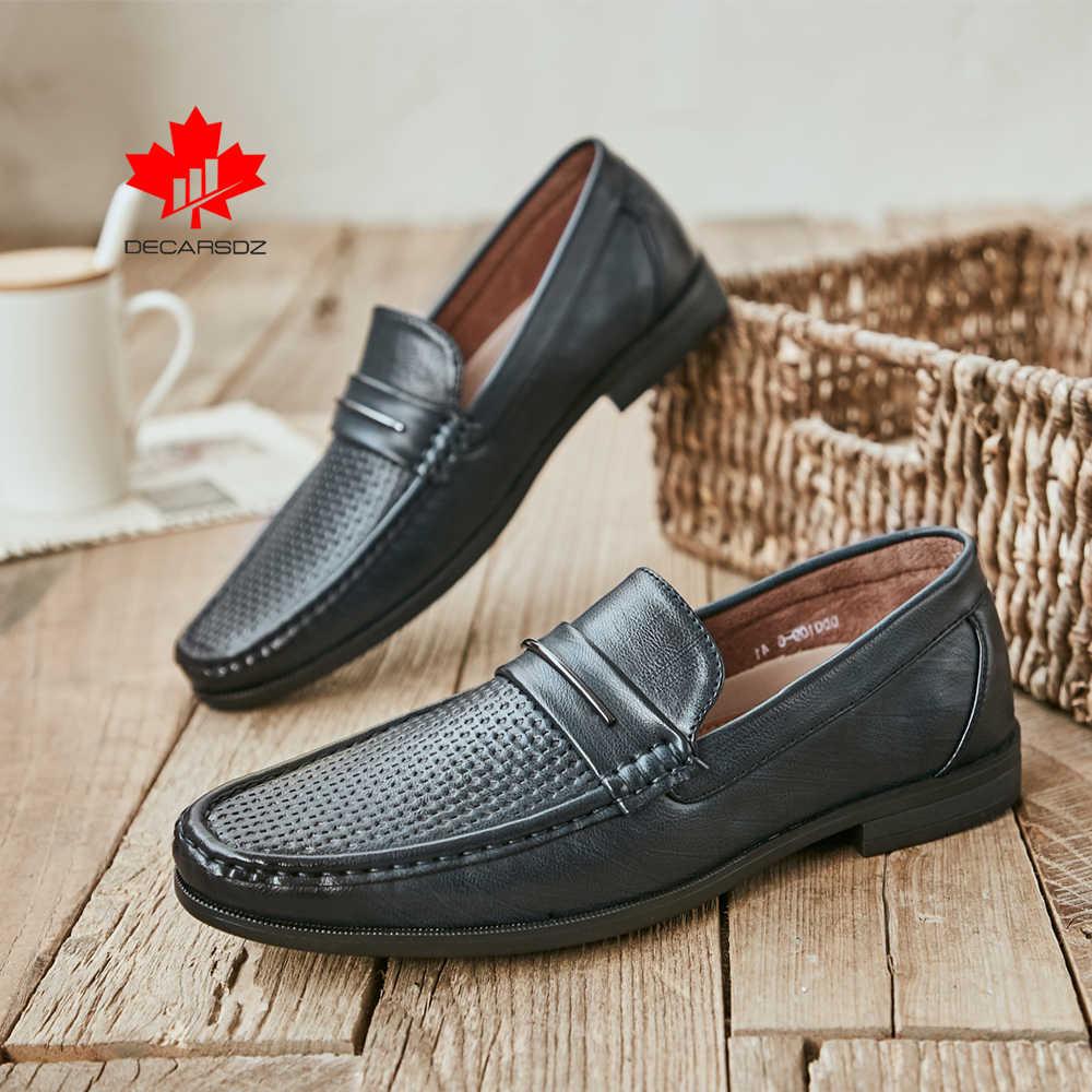 Erkekler loafer ayakkabılar erkek marka deri bot ayakkabı adam 2020 yeni bahar yaz erkek ayakkabıları rahat Slip-on moda gündelik erkek ayakkabısı