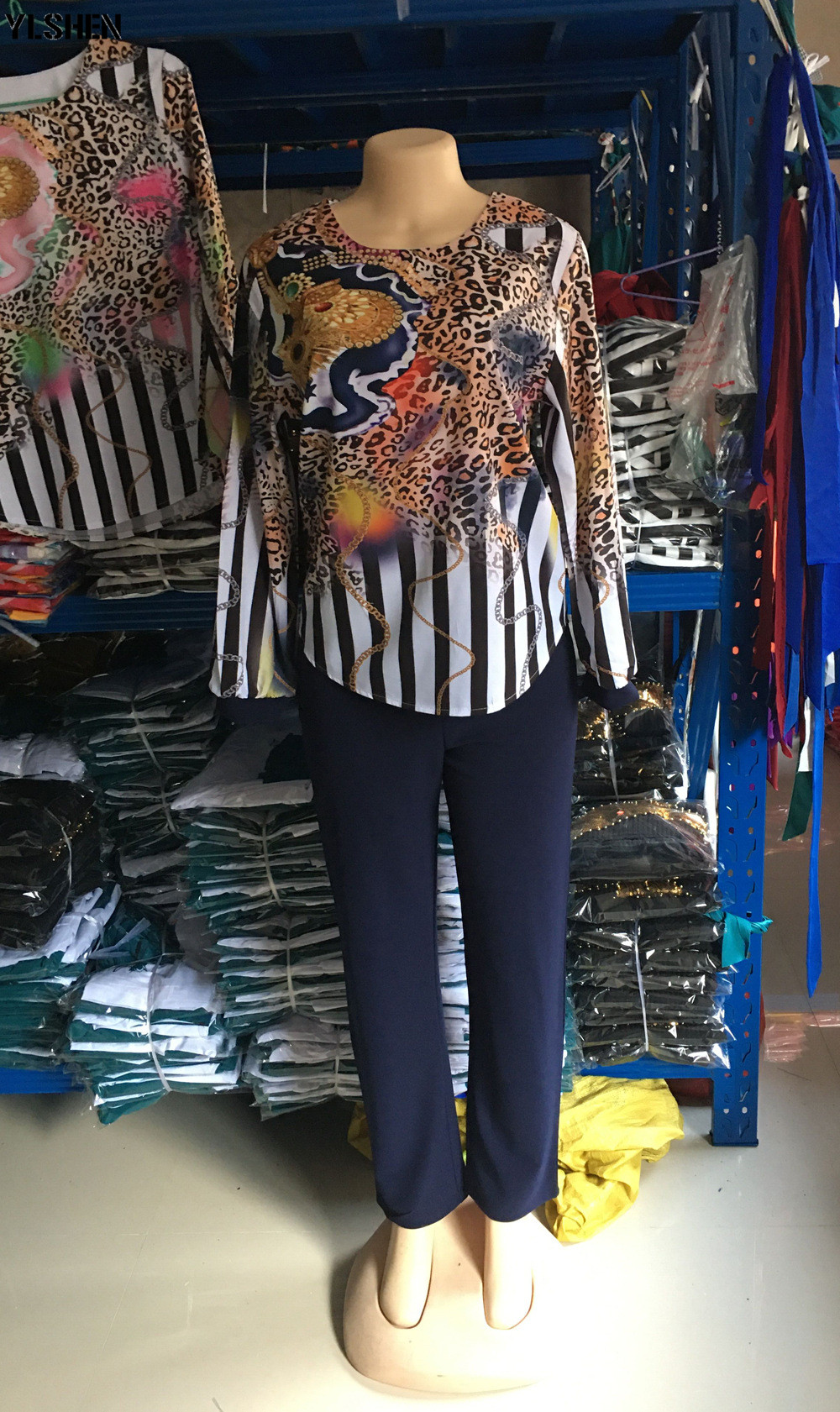 Two 2 Piece Set African Clothes Africa 2020 Dashiki Fashion Print Dresses Suit Bazin Top Pants Elastic Party Plus Size Clothing 14