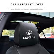 Car Headrest Cover Car Logo Pillow Protector Case For Lexus IS200T IS250 RX300 NX RX GS RX330 RX 350 Car Decoration Styling