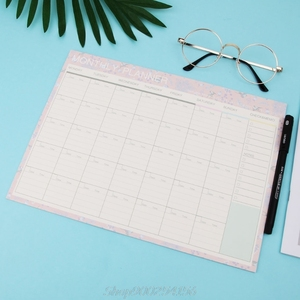 Monthly Paper Pad 20 Sheets DIY Planner Desk Agenda Gift School Office Supplies Jy17 20 Dropship