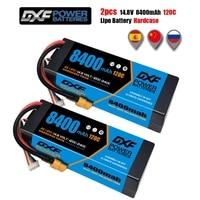 DXF Hardcase 2 uds batería Lipo 2S 3S 4S 7,4 V 11,1 V 14,8 V 5200mAh 6500mAh 6750mAh 7000mAh 8400mAh 50C 60C 100C 120C para RC Coche