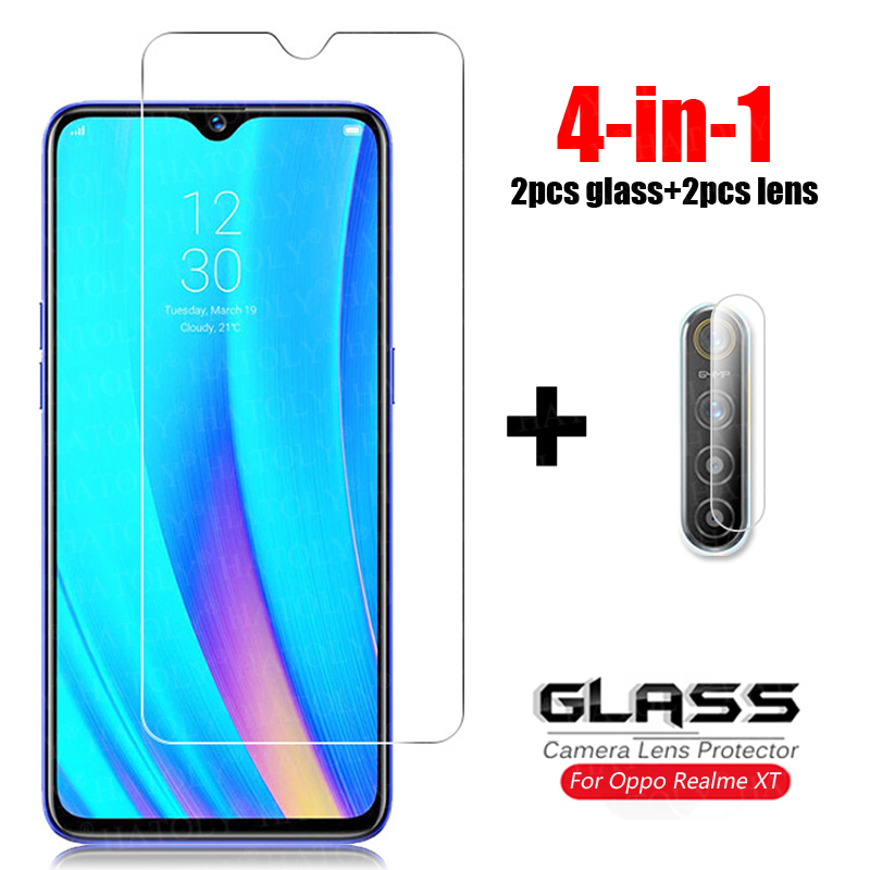 4-in-1 Glass on Realme XT Tempered Glass For Oppo Realme X2 X50 5 6 Pro 5i 6i Camera Lens Screen Protector Phone Glass Realme XT 1