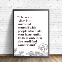 Alice In Wonderland Quote Art Print Canvas Painting Posters and Prints Wall Art Picture Modern Girl Room Cartoon Home Decoration