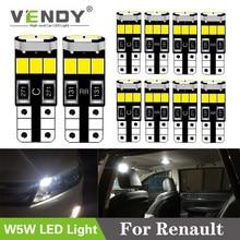 10x Car W5W T10 LED Light Auto Lamp Interior Bulb For Renault Trafic Safrane megane 2 3 duster logan laguna Koleos clio fluence