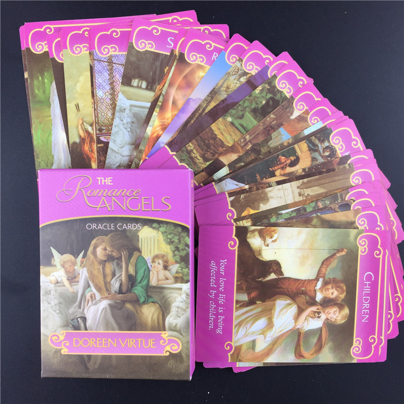 Full English  New Romance Angels Oracle Cards Deck Tarot Cards Double Game By Doreen Virtue Out Of Print