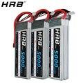 HRB 2S 3S 4S батарея Lipo 7 4 V 11 1 V 5000mah XT60 50C Deans EC5 TRX T 5S 6S 14 8 V 18 5 V 22 2 V RC детали для осевых автомобилей