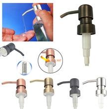 Nova bomba 4 tipos de aço inoxidável bomba sabão dispensador loção líquida substituição frasco tubo para banheiro dispensador sabão líquido cabeça