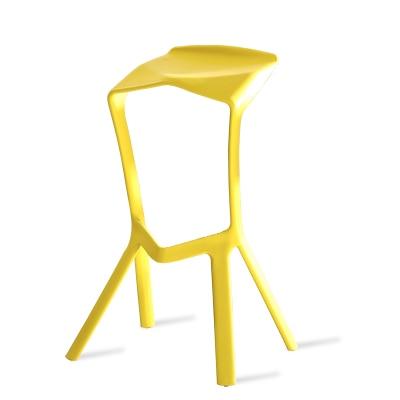 Multicolor Simple Plastic High Bar Stool Personality Fashion Plastic Bar Chair Cafe Nordic Bar Stool Geometry Folding Bar Chair