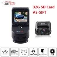 Dual Lens 4K Ultra HD WiFi Car Dash Cam T691C 2160P 60fps ADAS Dvr with 1080P Sony Sensor Rear Camera Night Vision GPS +32G SD
