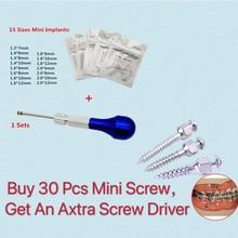 ทันตกรรมจัดฟันไขควง Micro สกรูเจาะด้วยตนเองเครื่องมือจัดฟัน MINI สกรู TITANIUM Alloy 11 ขนาดเลือก