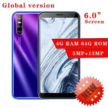 Smartphones 6 0inch A9 Android 4G RAM 64G ROM Global Version 13MP Camera CellPhones Mobile Phones WiFi Face Recognition unlocked cheap BYLYND Detachable 64GB Up To 48 Hours 3000 Adaptive Fast Charge Smart Phones QWERTY Keyboard Capacitive Screen English Russian