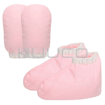 Parafina rękawice kąpielowe i botki Mitts i Cozies na ręce i nogi wosk do kąpieli Therabath wosk do pielęgnacji tanie i dobre opinie Czuł pad Paraffin Wax Bath Pink