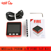 M5Stack Psram 2.0 Fire Iot Kit Dual Core ESP32 16M-FLash + 4M-PSRAM Development Board Mic/Ble MPU6050 + MAG3110 van Micropython ZK5