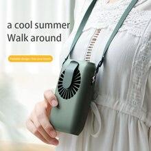 Портативный мини вентилятор на шею маленький Ручной usb для