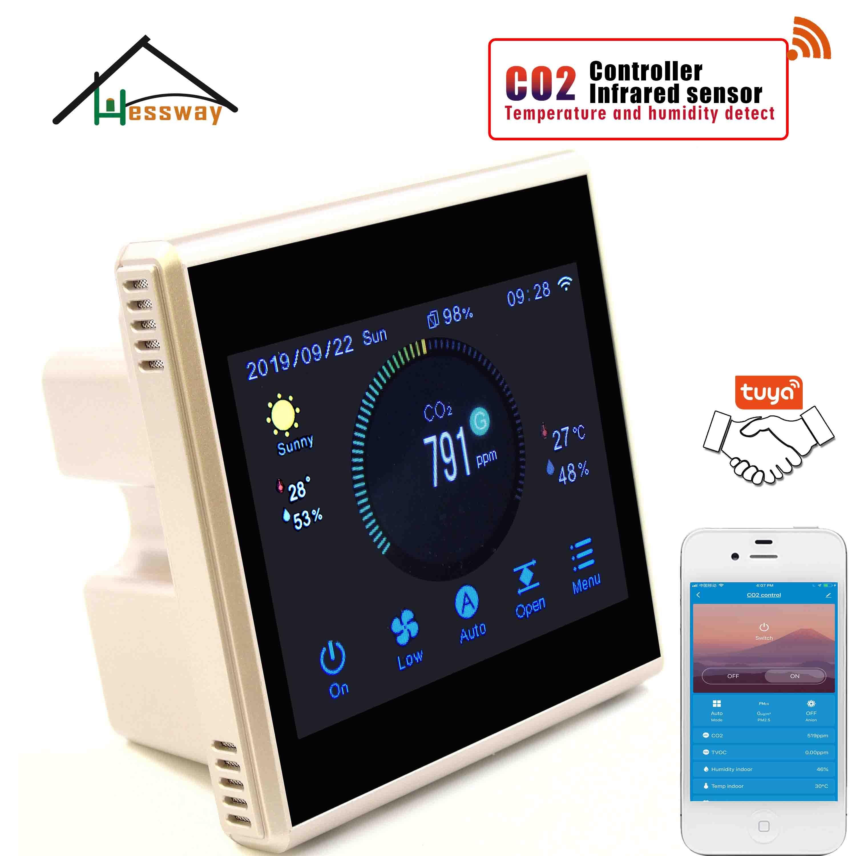 Image 3 - Hessway tuya app rs485 & modbus analisador de gás infravermelho detector sensor co2 para controlador do sistema arAnalisadores de gás   -