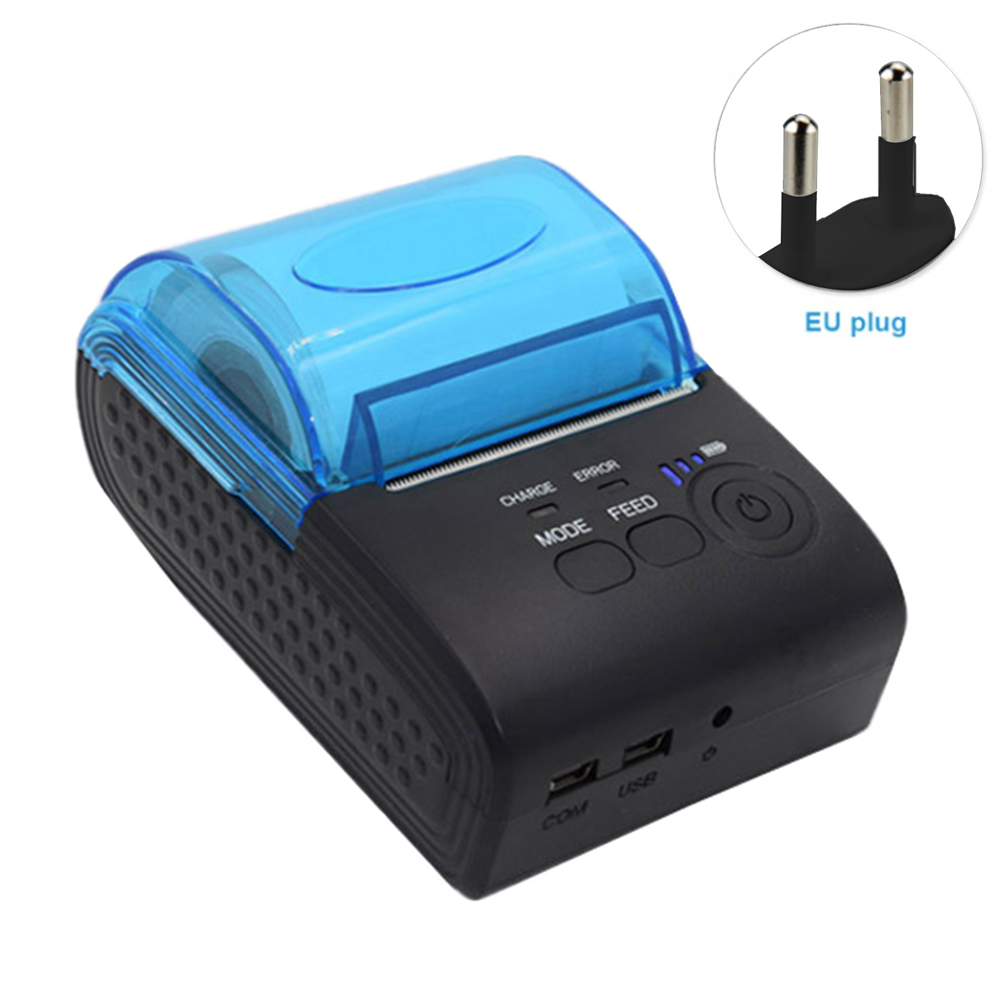 58mm imprimante thermique personnelle grand papier entrepôt billet sans fil pour supermarché Portable Mini USB Bluetooth 4.0 reçu POS