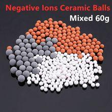 1 pacote cabeça de chuveiro do banheiro substituição contas filtro energia ânion mineralizado íons negativos bolas cerâmica purificação água
