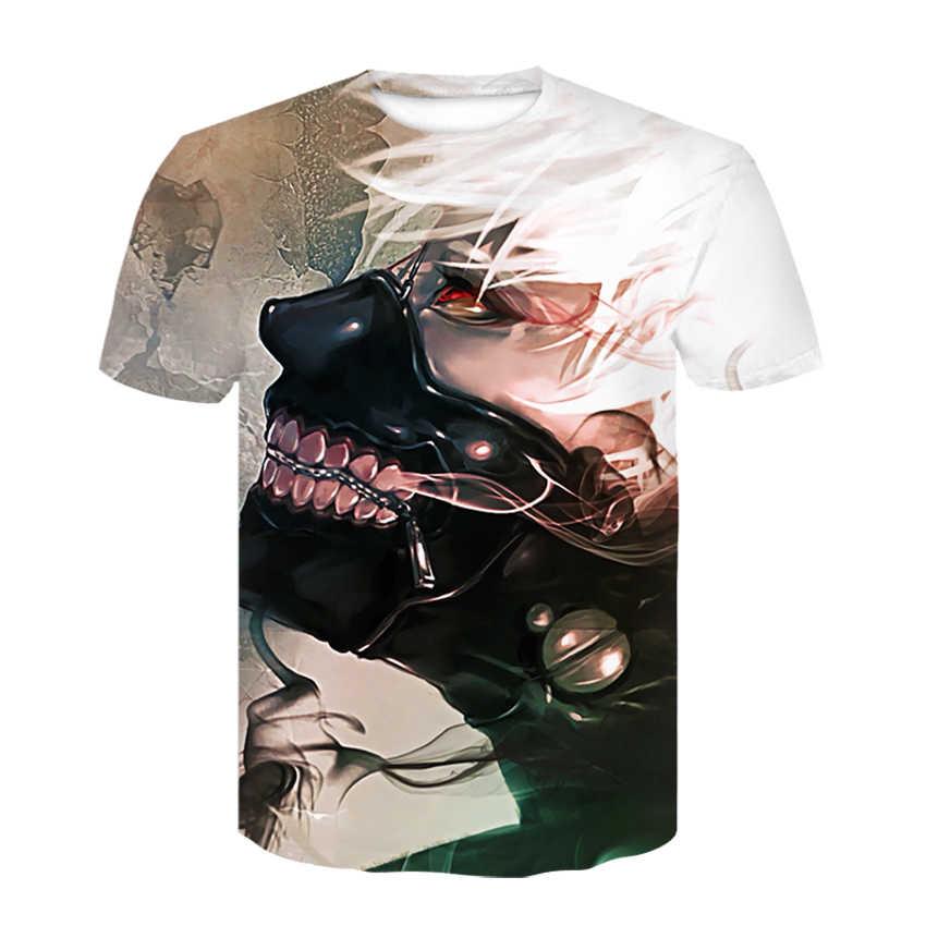 3D אש צל קצר שרוולים גברים של מגניב חולצה קיץ אופנה רחוב ללבוש מודפס עגול צווארון אישיות מזדמן חולצה