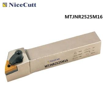 Nicecutt MTJNR2525M16 MTJNL2525M16 External Turning Tool Holder For TNMG1604 Lathe Turning Insert Freeshipping free shipping external turning tool holder dwlnr lathe cutter dwlnr2020k08 dwlnr2525m08 for turning insert wnmg080408 nicecutt