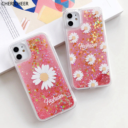 White Daisy Flower Case For Huawei Mate 7i 7 Pro 7se 6 se 6se 5i 5z 5t 5 t 4 4e 3 3e 3i 2i Glitter Dynamic Liquid Nova 5t Cover