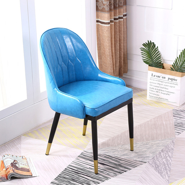 Nordic Dining Chair Home Stool Simple Modern Makeup Backrest Backrest Ins Net Red Chair Desk Chair 5