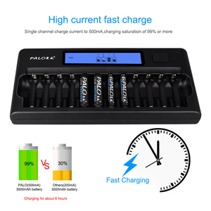 Image 2 - Fast Smart 12 Slots New type Charger NIMH NICD AA  AAA Smart LCD Battery Charger for 1.2v AA AAA NiMH NICD rechargeable battery