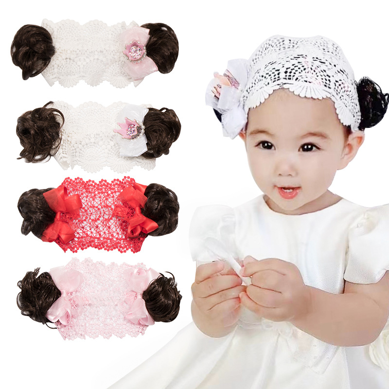 Lace Hat Cap Newborn Hair Accessories Baby Kid Girls Elastic Flower Headband