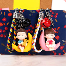 Lovely Creative Keychain Cute Doll Pendant Keychain Ring Key Holder Bag Decor Kids Playmate Valentine Children Best Gifts Kawaii(China)