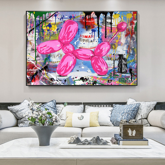 Abstract Street Art Graffiti Painting Printed on Canvas 2