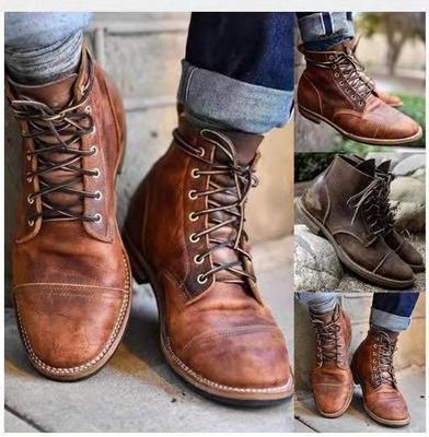 Cosplaydiy sapato de couro medieval masculino idade média tornozelo botas renascentista vitoriano bota sapatos