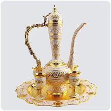 Свадебная пленка античный винный набор из цинкового сплава длинная