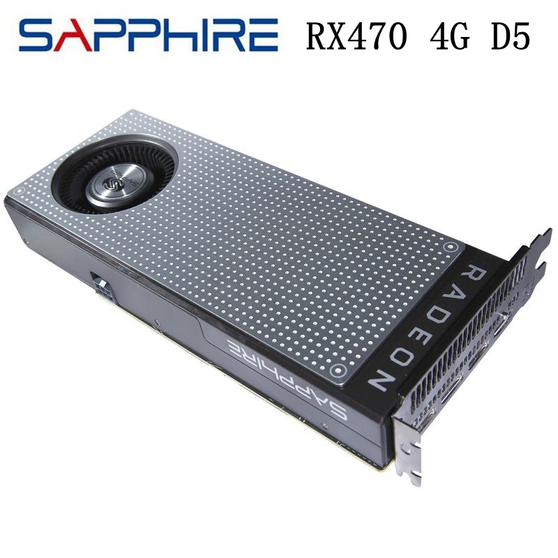 USED Sapphire RX470D RX470 4G D5 256bit 4GB GDDR5 6pin PCI Express 3.0 Gaming Graphics Cards Video Card 6600MHz HDMI DirectX 12