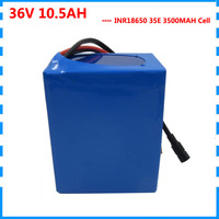 350W 36V 10AH Electric Bike battery 36V 500W 10.5AH Lithium ion battery use for samsung cell with BMS 2A Charger