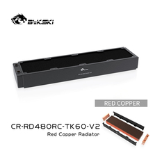 Bykski 480Mm Koperen Radiator Rc Serie High-Performance Warmteafvoer 60Mm Dikte Voor 12Cm Fan Koeler, CR-RD480RC-TK60-V2