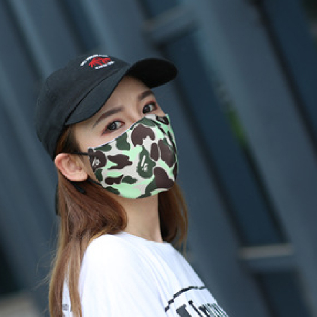 Women Men Unisex Face Mouth Mask Shark Colorful Camouflage Earhook Elastic Anti-Dust Muffle Protective 5