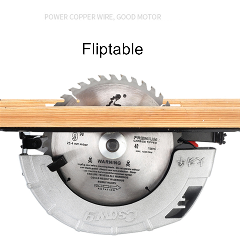 7 inch 8 inch portable electric circular saw flip electric saw household aluminum body woodworking saw table saw flashlight saw