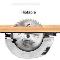 7 inch 8 inch portable electric circular saw flip electric saw household aluminum body woodworking saw table saw flashlight saw