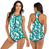 Zippered Front Sports One Piece Swimsuit 10