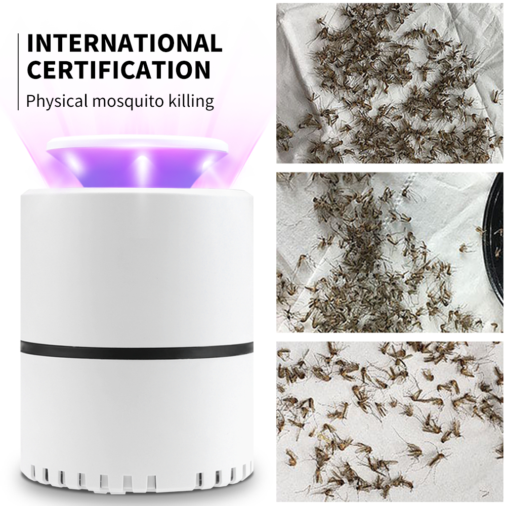 Electric Fly Bug LED Lamp Zapper Mosquito Insect Killer USB 5V LED Light Trap Pest Catch Lamp Pest Control Photocatalysis Mute