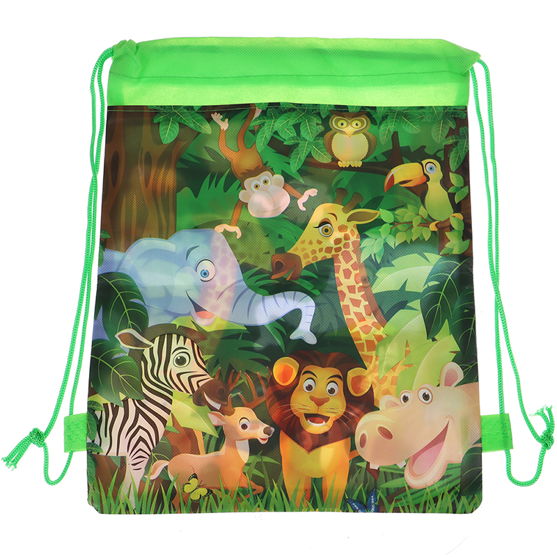 1PCS Fashion Animal Drawstring Bag  For Boy Girls Satchel Rucksack School Backpack