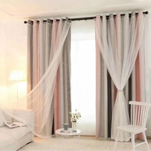Hot Hollowed Out Star Shading Window Blackout Curtain Drapes Purdah for Living Room Princess Children Baby Kid\s