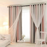 Hot Hollowed Out Star Shading Window Blackout Curtain Drapes Purdah for Living Room Princess Children Baby Kid\'s Room Curtain