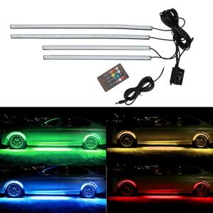 Image 5 - LEEPEE 4x8 Underglow Underbody מוסיקה פעיל מערכת קול ניאון אור LED גמיש רצועת רכב Underglow דקורטיבי סביבה מנורה