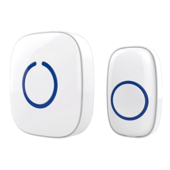 433MHZ 52 Songs Wireless Door Bell Set Remote Wireless Doorbell Receiver Rainwater Infiltration-Proof, EU Plug