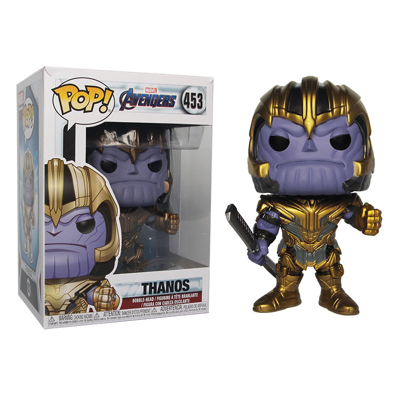 Funko POP Anime The Avengers Iron man QUAKE Loki Black Panther Thanos Grootted Action Figure model