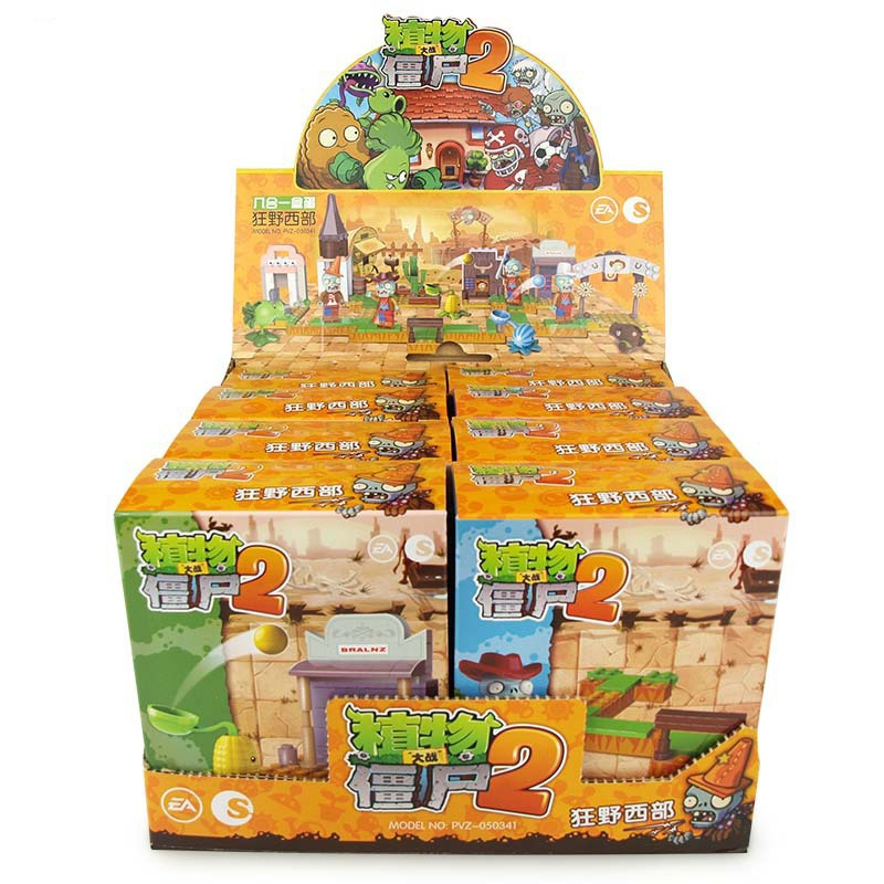 6 In 1 Marvel Superhero Series Plants Vs Zombies Star Wars Mini Mutants Action Figures Toys For Children Gifts in Blocks from Toys Hobbies