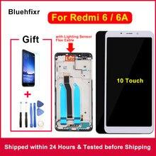 5.45 inç orijinal dokunmatik ekranlı 10 dokunmatik için Xiaomi Redmi 6 6A LCD ekran çerçeve değiştirme ile ekran için Redmi 6A 6 LCD ekran meclisi